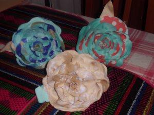 flores fieltro flamenca
