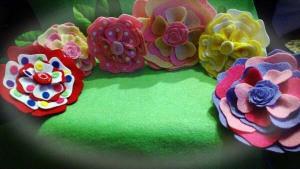 muñecas de fieltro de flamenca