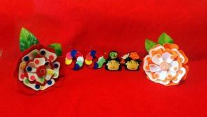 flores en fieltro para flamencas