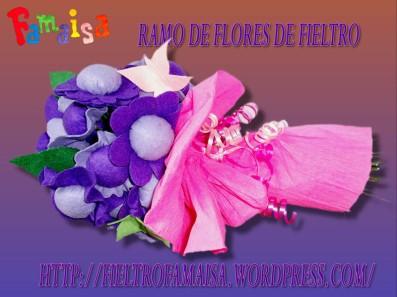 ramo de flores de fieltro famaisa